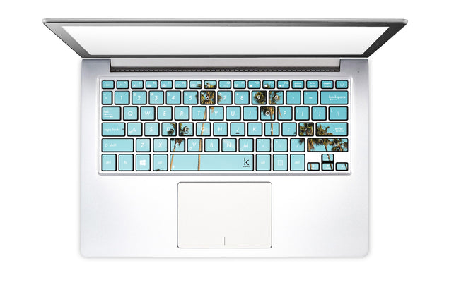 Mint Palm Trees Laptop Keyboard Decal