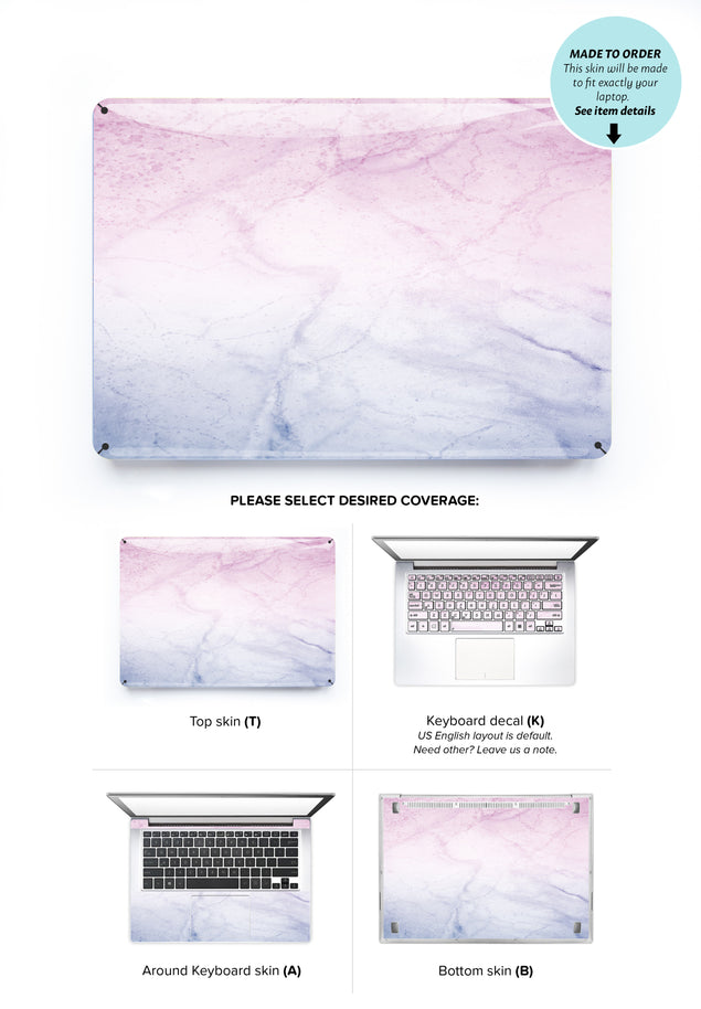 Weekend Marble Laptop Skin