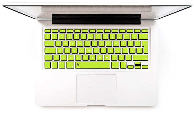 Lime MacBook Keyboard Decal at Keyshorts.com
