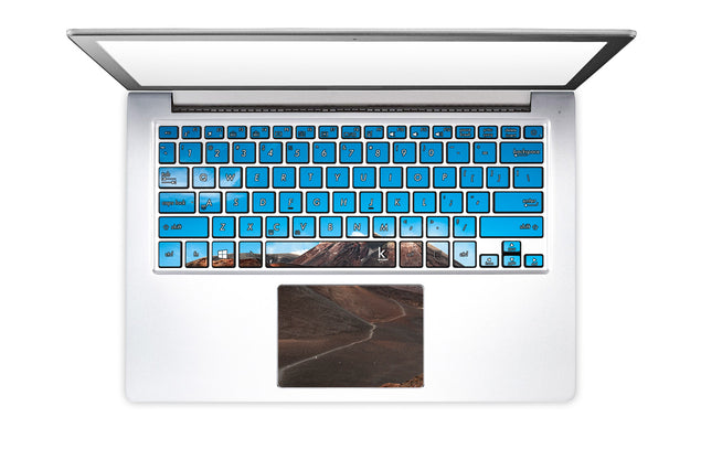 Love on Etna Laptop Keyboard Stickers