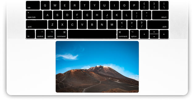 Love on Etna MacBook Trackpad Sticker