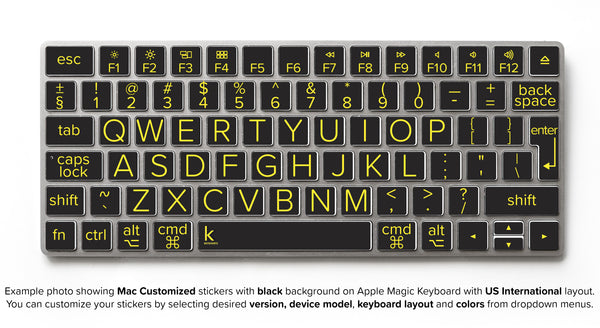 Low Vision Keyboard Stickers With Large Print Type Keyshorts