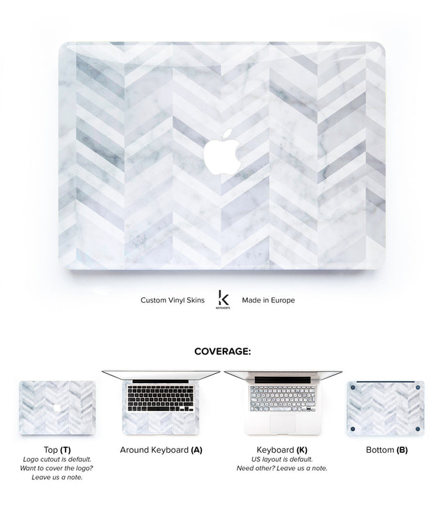 Marble Chevrons MacBook Skin at Keyshorts.com