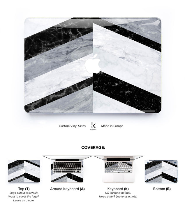 Marble Chevron MacBook Skin at Keyshorts.com