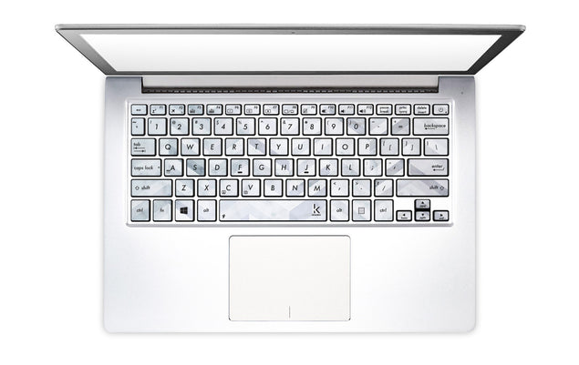 Marble Chevrons Laptop Keyboard Decal