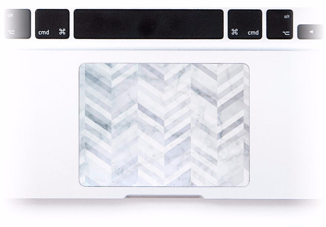 Marble Chevrons MacBook Trackpad Sticker at Keyshorts.com