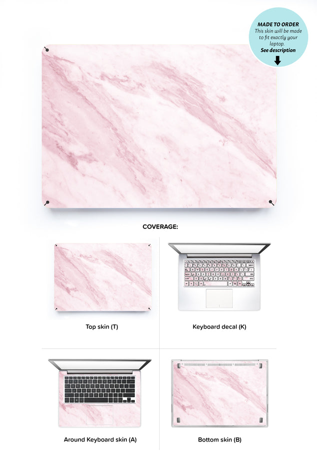 Marble on the sun Laptop Skin