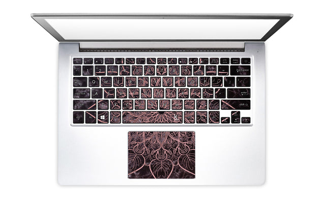 Marbleous Mandala Laptop Keyboard Stickers
