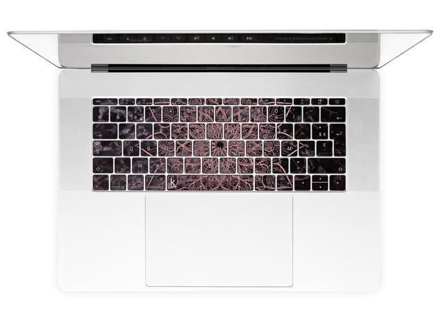 Marbleous Mandala MacBook Keyboard Stickers alternate