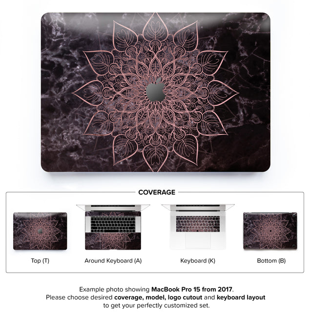 Marbleous Mandala MacBook Skin
