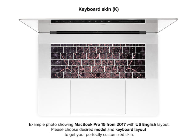 Marbleous Mandala MacBook Skin - keyboard stickers