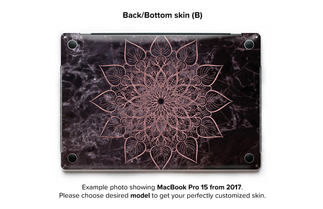 Marbleous Mandala MacBook Skin - back skin