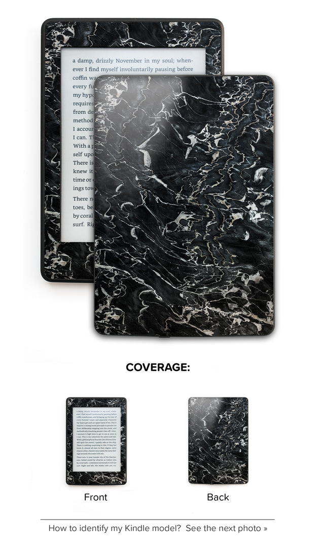 Marsala Black Marble Kindle Skin