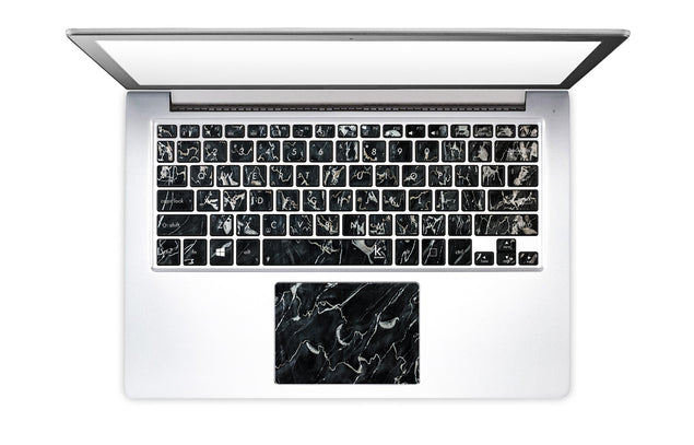 Marsala Black Marble Laptop Keyboard Stickers