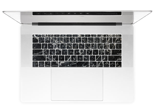 Marsala Black Marble MacBook Keyboard Stickers alternate