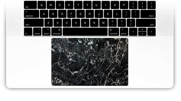 Marsala Black Marble MacBook Trackpad Sticker