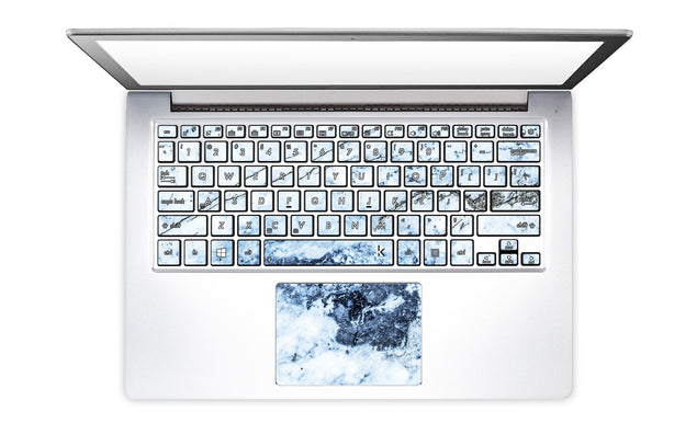 Medieval Blue Marble Laptop Keyboard Stickers