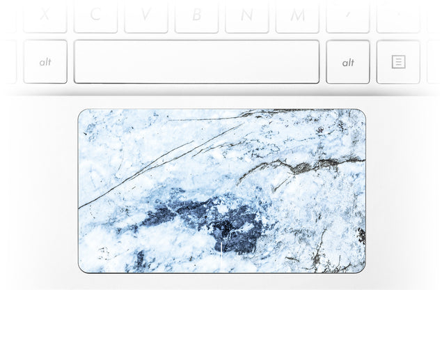 Medieval Blue Marble Laptop Trackpad Sticker