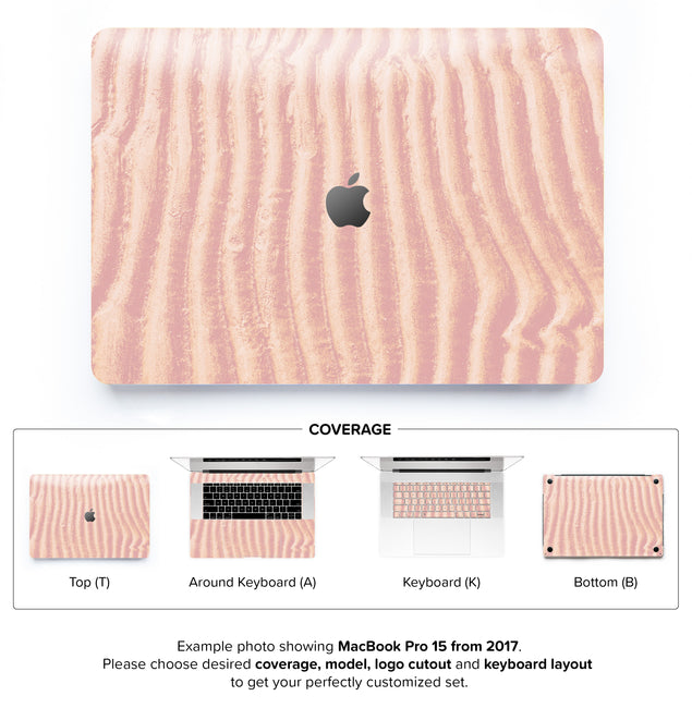 Mellow Rose Sand MacBook Skin