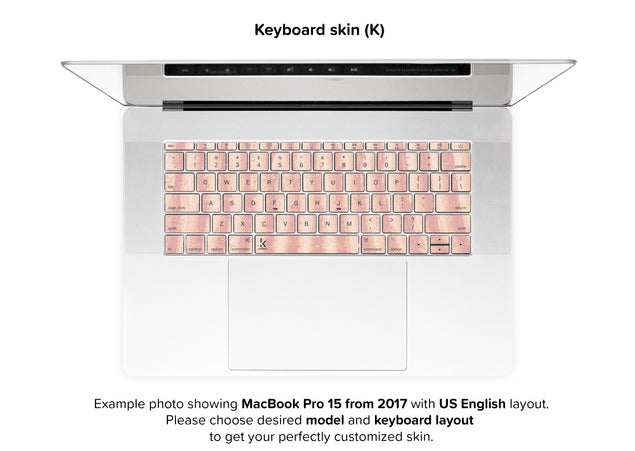 Mellow Rose Sand MacBook Skin - keyboard stickers