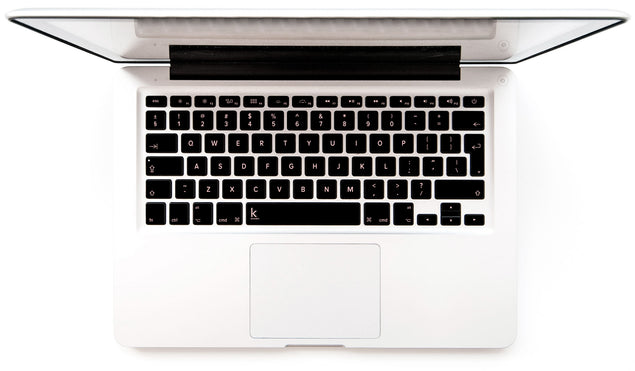 Metallic millennial pink MacBook keyboard stickers