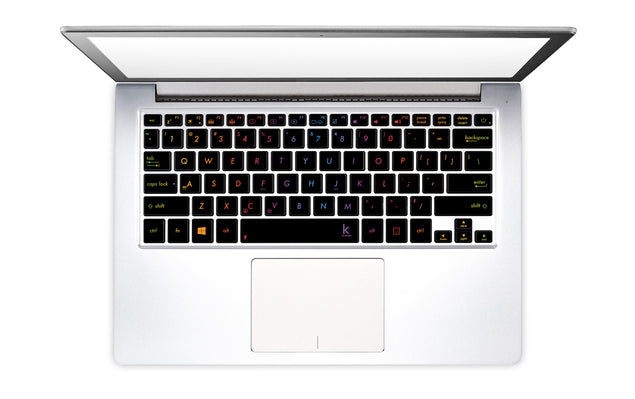 Metallic rainbow laptop keyboard stickers