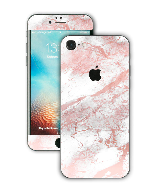 Millennial Pink Marble Dust iPhone Skin