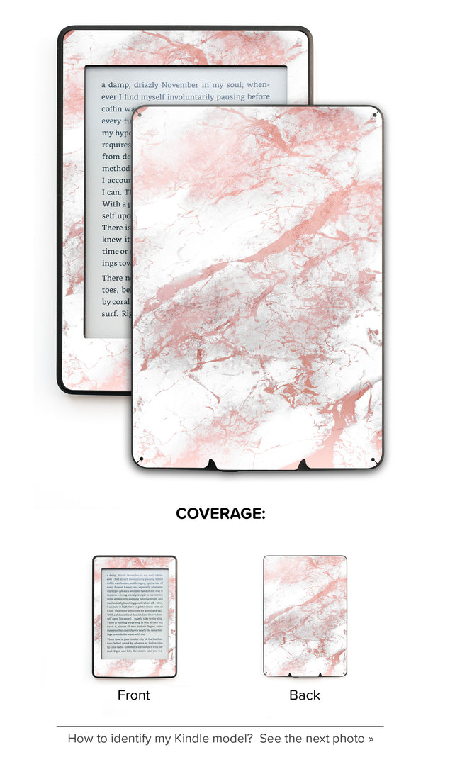 Millennial Pink Marble Dust Kindle Skin