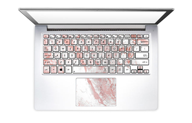 Millennial Pink Marble Dust Laptop Keyboard Stickers