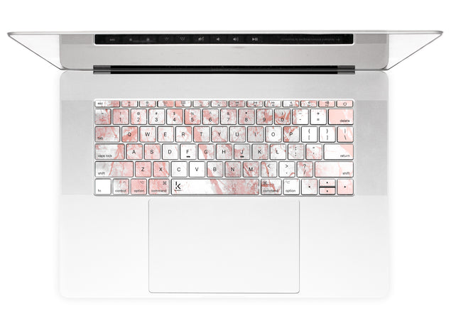 Millennial Pink Marble Dust MacBook Keyboard Stickers alternate