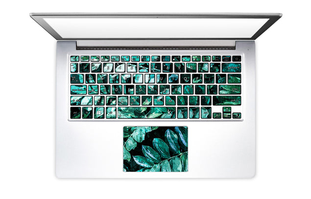 Mineral Leaves Laptop Keyboard Stickers