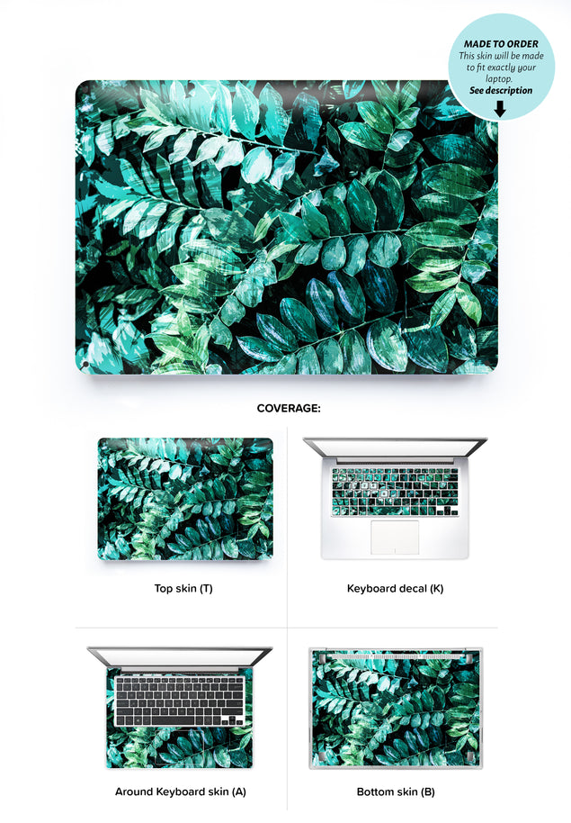 Mineral Leaves Laptop Skin