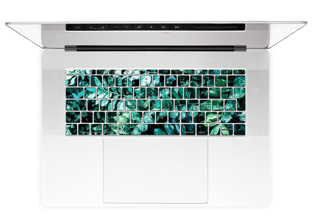 Mineral Leaves MacBook Keyboard Stickers alternate
