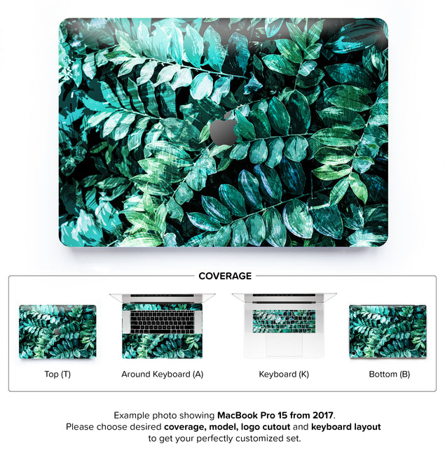 Mineral Leaves MacBook Skin