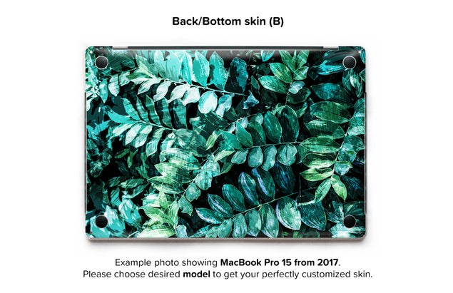 Mineral Leaves MacBook Skin - back skin