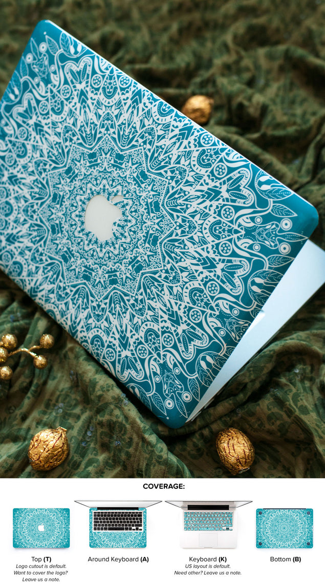 Mint Mandala MacBook Skin at Keyshorts.com - 4