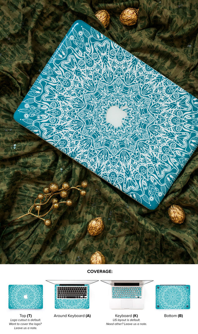 Mint Mandala MacBook Skin at Keyshorts.com - 3
