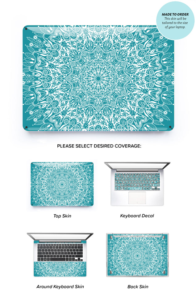 Mint Mandala Laptop Skin