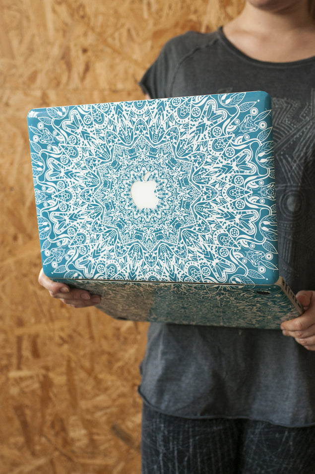 Mint Mandala MacBook Skin at Keyshorts.com - 2