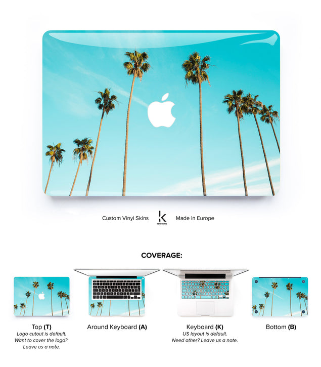 Mint Palm Trees MacBook Skin