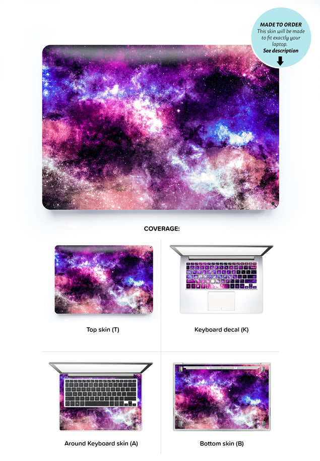 Moon Dust Laptop Skin