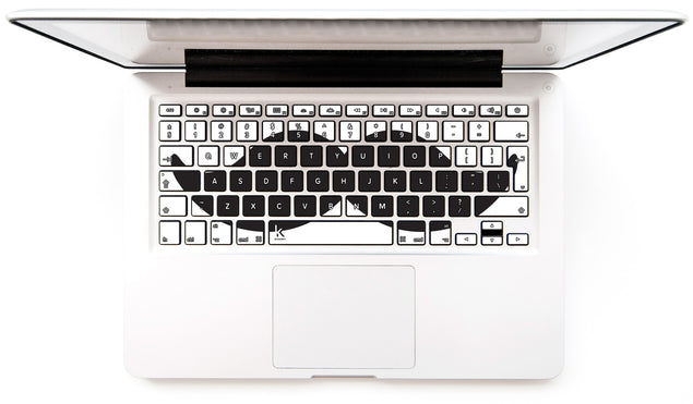 Moustache Invasion MacBook Keyboard Decal at Keyshorts.com
