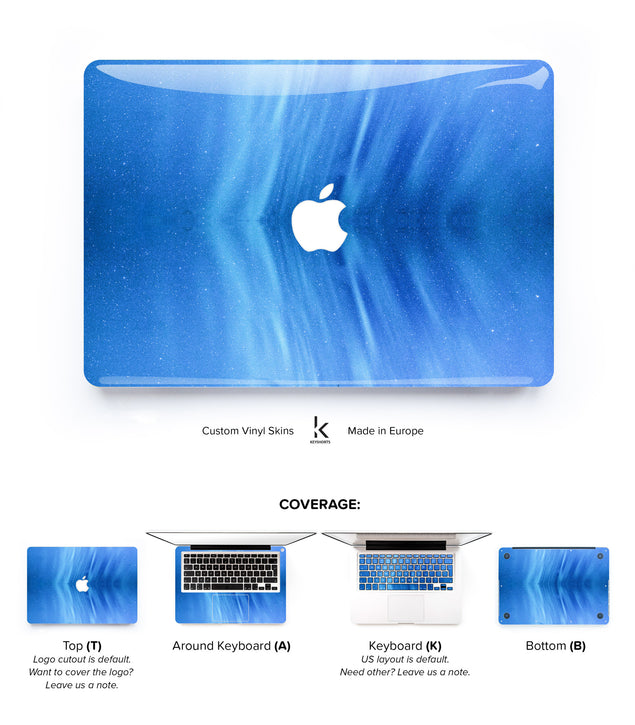 Navy Galaxy MacBook Skin at Keyshorts.com