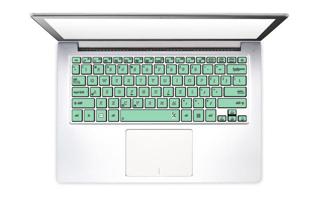 Neo Mint Laptop Keyboard Stickers