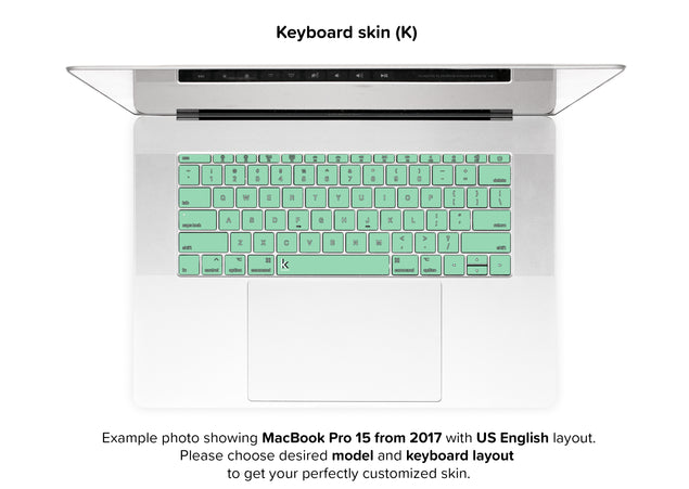 Neo Mint MacBook Skin - keyboard stickers