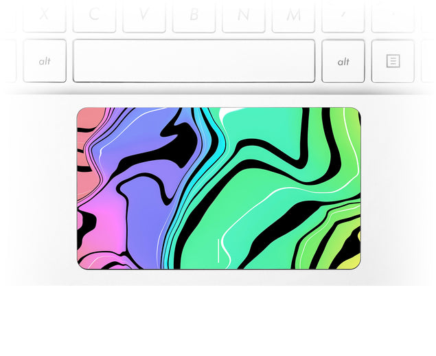 Neon Tiger Laptop Trackpad Sticker