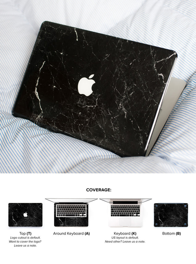 New Black Marble MacBook Skin