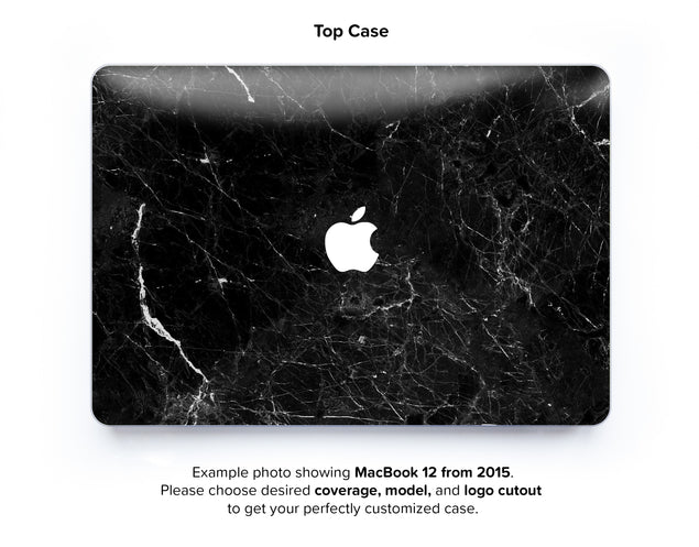 New Black Marble Hard Case for MacBook 12 - top case