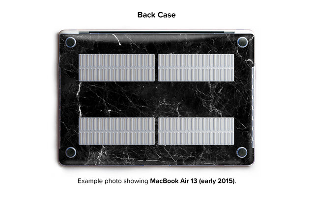 New Black Marble Hard Case for MacBook Air 13 - back/bottom case