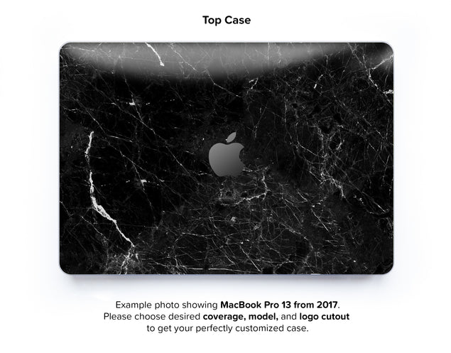 New Black Marble Hard Case for MacBook Pro 13 without TouchBar - top case